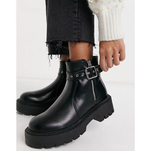 Glamorous – Klobige Ankle-Boots in Schwarz 41