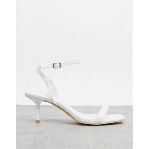 Glamorous – Sandalen mit Knöchelriemen in Weiß 42