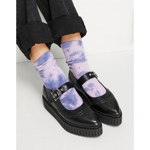 Lamoda – Flache Schuhe mit Schnalle in Schwarz 36
