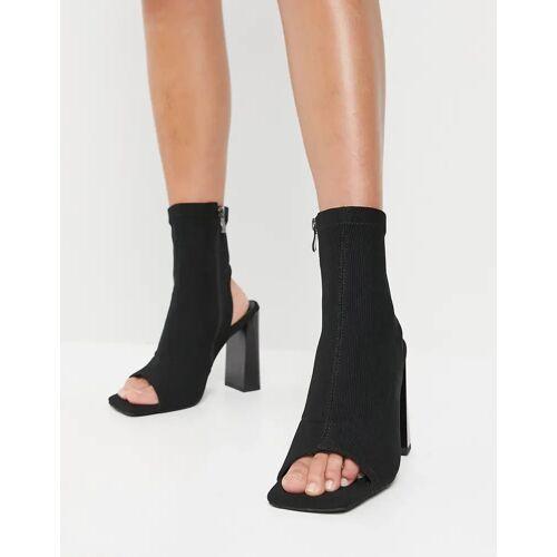 SIMMI Shoes Simmi London – Avis – Peeptoe-Stiefel in Schwarz 38