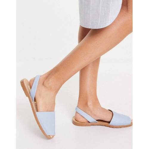 Solillas – Menorquina-Sandalen aus Leder in Hellblau 38