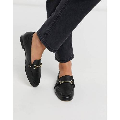 ALDO – Astaweia – Loafer aus schwarzem Leder 36
