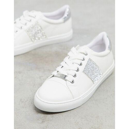 Carvela – Jacuzzi – Sneaker zum Schnüren in Weiß 39
