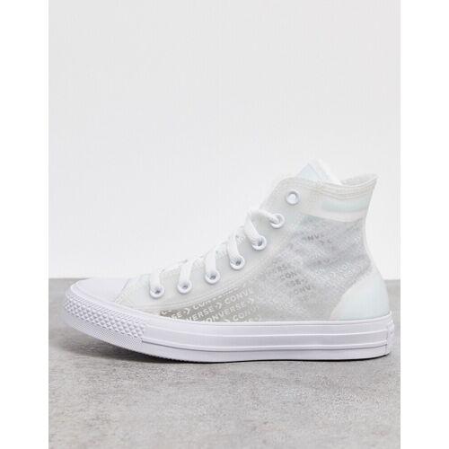 Converse – Chuck Taylor – Sneaker mit durchsichtigem Design-Weiß 36