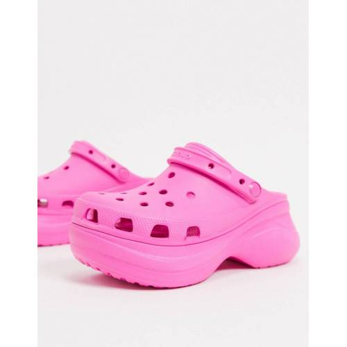 Crocs – Bae – Clogs mit Plateausohle in Rosa 36-37