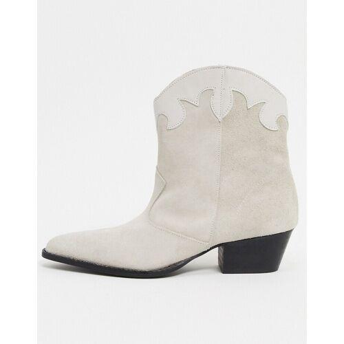 Depp – Weiße Stiefel aus unterschiedlichem Leder 41