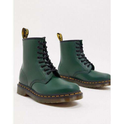 Dr Martens – 1460 – Flache Ankle-Boots aus Leder in Grün 36