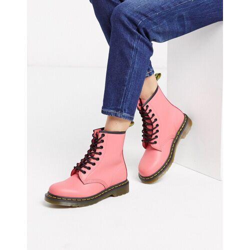 Dr Martens 1460 – Flache Ankle-Boots aus Leder in Rosa 39