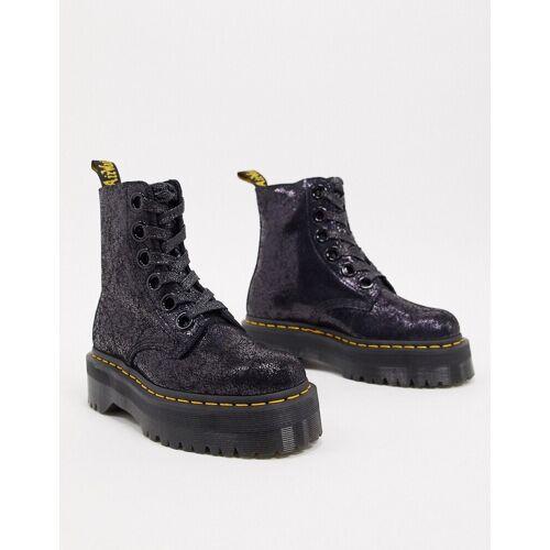 Dr Martens – Molly – Schwarze Stiefel aus krakeliertem Leder 41