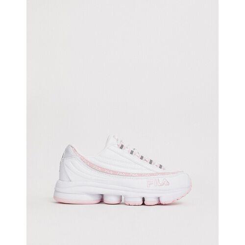 Fila – Dragster 97 – Sneaker in Weiß & Rosa 39.5