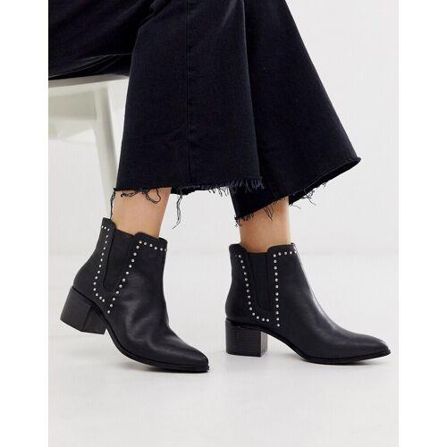 Miss KG – Ankle-Boots mit Absatz und Nieten-Schwarz 41
