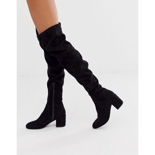 Miss KG – Schwarze, kniehohe Sock-Boots 37