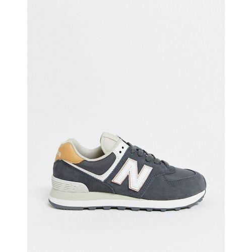 New Balance – 574 – Winterfeste, graue Sneaker 43