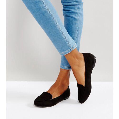 New Look – Flache Schuhe mit Zuglasche-Schwarz 37
