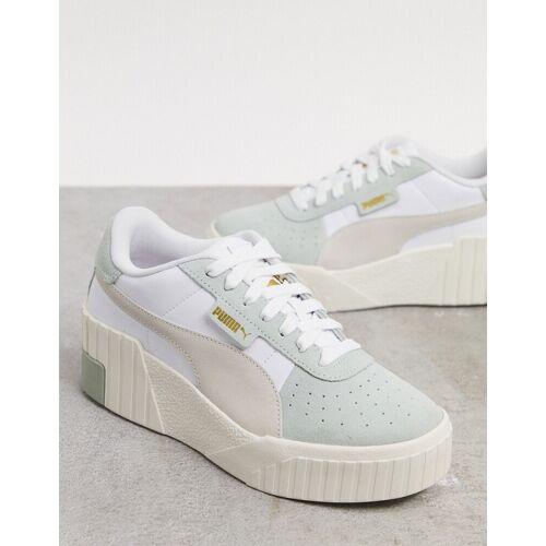 Puma – Cali – Sneaker mit Keilabsatz in Grün 40