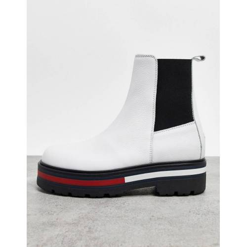 Tommy Jeans – Chelsea-Stiefel in Weiß 41
