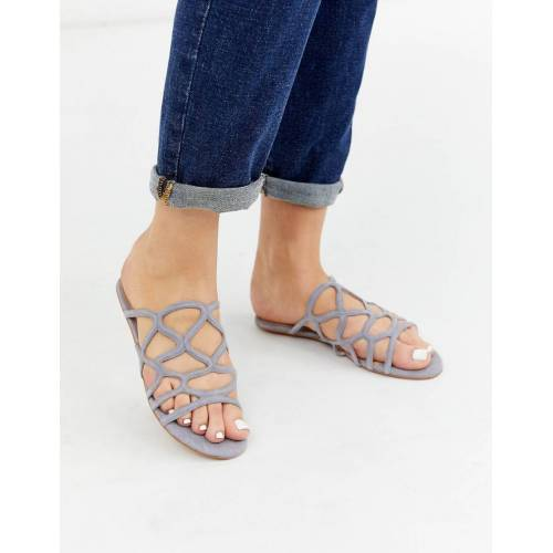 Vero Moda – Flache Sandalen-Grau 38