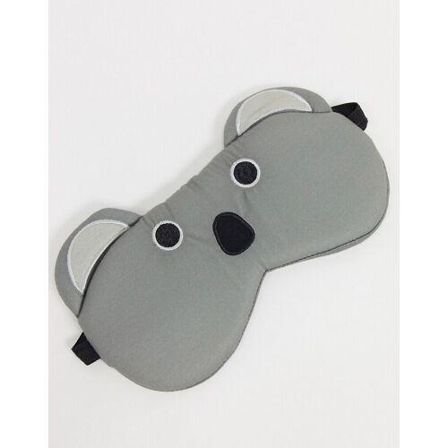 Typo – Augenmaske mit Koalaprint-Grau No Size