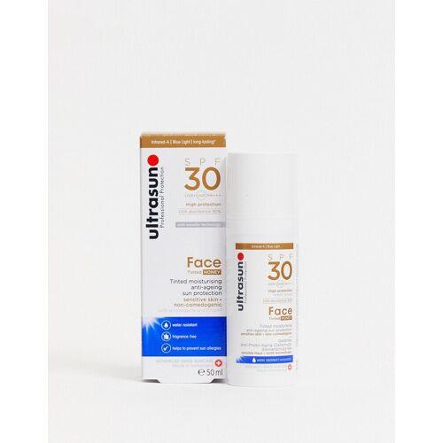 Ultrasun – Anti-Age – Getönte Sonnencreme fürs Gesicht mit Lichtschutzfaktor 30 für besonders empfindliche Haut, 50 ml-Braun No Size