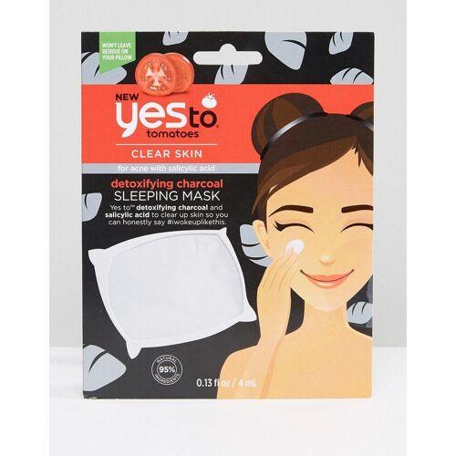 Yes To Tomatoes – Entschlackende Schlafmaske mit Aktivkohle-Keine Farbe No Size