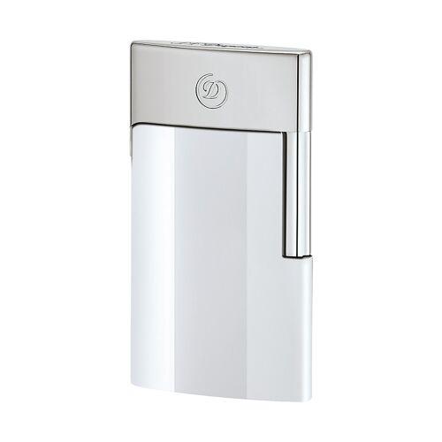 S.T. Dupont Feuerzeug Eslim White Chrome 027003E