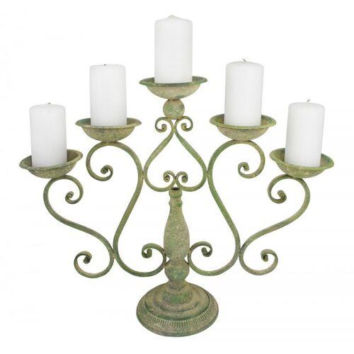 Esschert Design Rustikaler Kerzenhalter Kerzenständer 5-flammig Eisen Aged Metal
