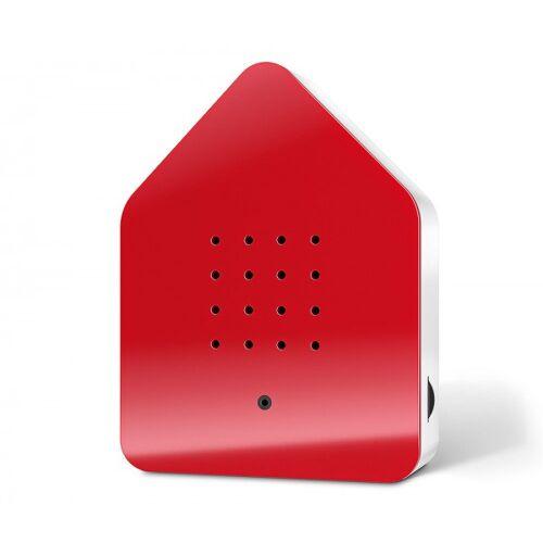 Zwitscherbox Classic Rot Vogelgezwitscher mit Bewegungsmelder Vogelstimmen