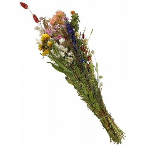 zeitzone Trockenblumenstrauß Wildblumen Bunt Gräser Getrocknet Natur Blumenstrauß ca. 70cm