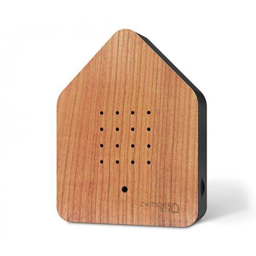 Zwitscherbox Wood Kirsche Schwarz Vogelgezwitscher mit Bewegungsmelder Vogels...