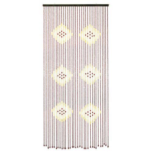 zeitzone Türvorhang Bambus Perlen Braun Karibik 90x200 cm Bambusvorhang Insektenschutz