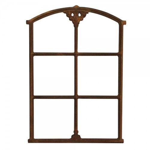 zeitzone Stallfenster Eisenfenster Rostig Nostalgie Fenster Rahmen Antik-Stil H 75cm
