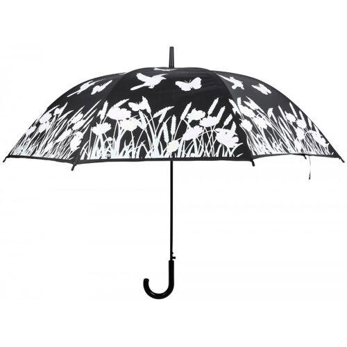 Esschert Design Regenschirm Blumenwiese Farbwechsel bei Regen Stockschirm