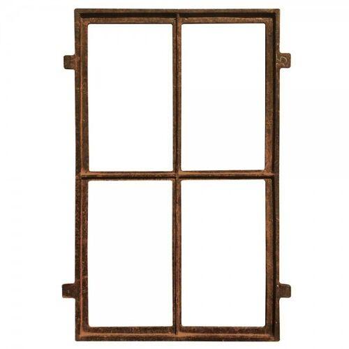 zeitzone Stallfenster Eisenfenster Rostig Nostalgie Fenster Rahmen Antik-Stil 75x45cm