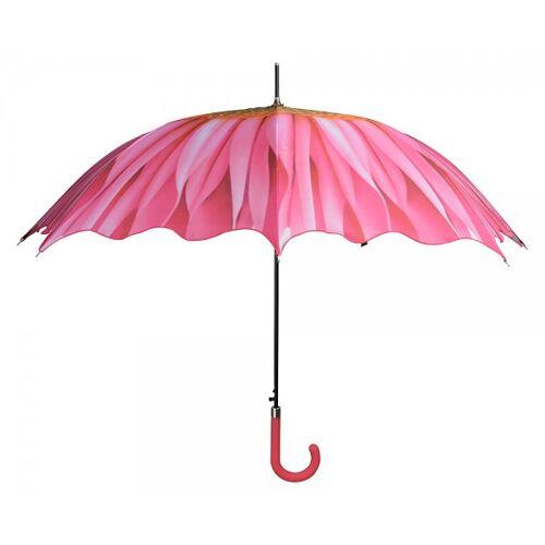 Esschert Design Regenschirm Blume Pink Stockschirm Schirm Ø 100cm