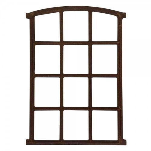 zeitzone Stallfenster Eisenfenster Rostig Nostalgie Scheunenfenster Rahmen Antik-Stil 78cm