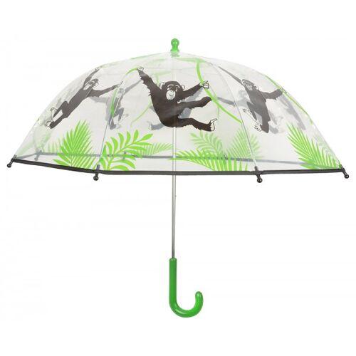 Esschert Design Kinder Regenschirm Affe Transparent Tiermotiv Durchsichtig Kinderschirm