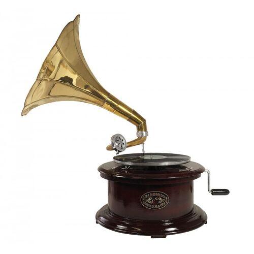 zeitzone Grammophon Nostalgie Rund Schellackplatten Grammofon Trichter Antik-Stil