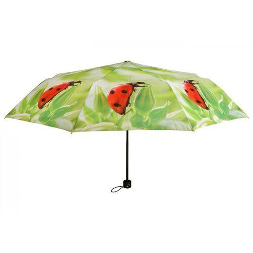 Esschert Design Regenschirm Marienkäfer Taschenschirm faltbar Schirm