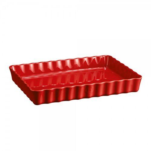 Emile Henry Rechteckige Tarteform HR Ceramic® Kuchenform Rot 34x24cm