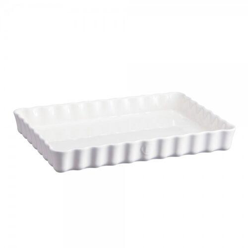 Emile Henry Rechteckige Tarteform HR Ceramic® Kuchenform Weiß 34x24cm