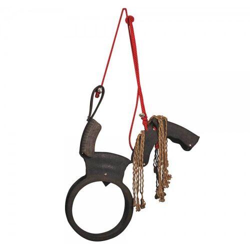 Esschert Design Ausgefallene Kinderschaukel Pferdeschaukel Reifenschaukel Gartenspielzeug