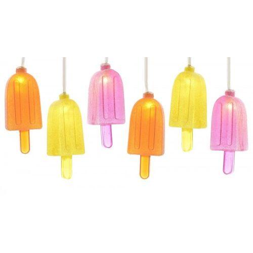 zeitzone LED Lichterkette EIS AM STIEL Partylichterkette Eis Sommer Gartenparty