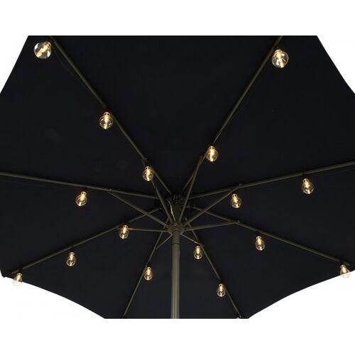 zeitzone Sonnenschirm Lichterkette LED Sonnenschirm Beleuchtung 20 Glühbirnen Warmweiß