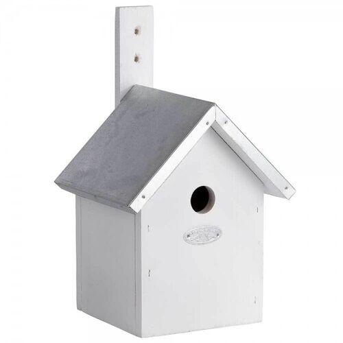 Esschert Design Vogelhaus für Blaumeisen Nistkasten Holz Weiß