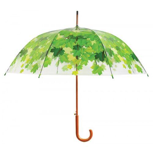 Esschert Design Regenschirm Blätter Baumkrone Transparent Stockschirm Durchsichtig