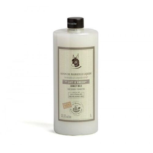 La Maison du Savon de Marseille Flüssigseife Eselsmilch (Lait D`Anesse) mit Bio-Olivenöl 1L