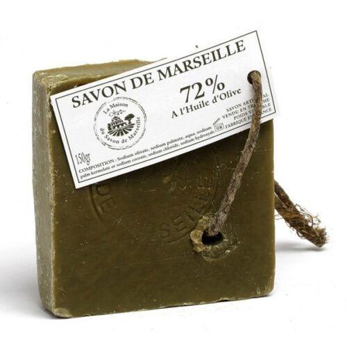 La Maison du Savon de Marseille Savon de Marseille Olivenölseife Seifenscheibe 72% Olivenöl Seife Vegan 150g