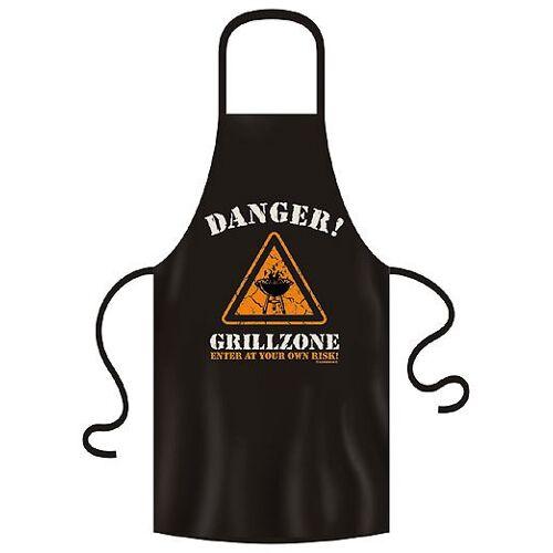 """zeitzone Grillschürze """"Danger Grillzone"""" 100% Baumwolle schwarz"""