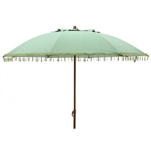 zeitzone Sonnenschirm BALI Petrol Grün mit Schmucksteinen Gartenschirm Erdspieß Ø 160cm