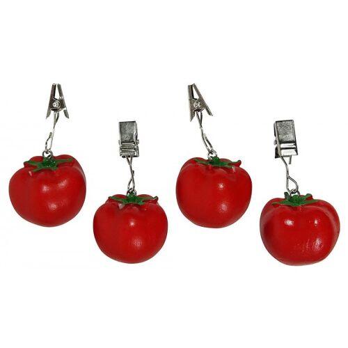 zeitzone Tischdeckengewichte Tomaten Rot 4 Stück Tischtuchbeschwerer Tischdeckenhalter